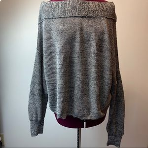 Free People gray oversized sweater S